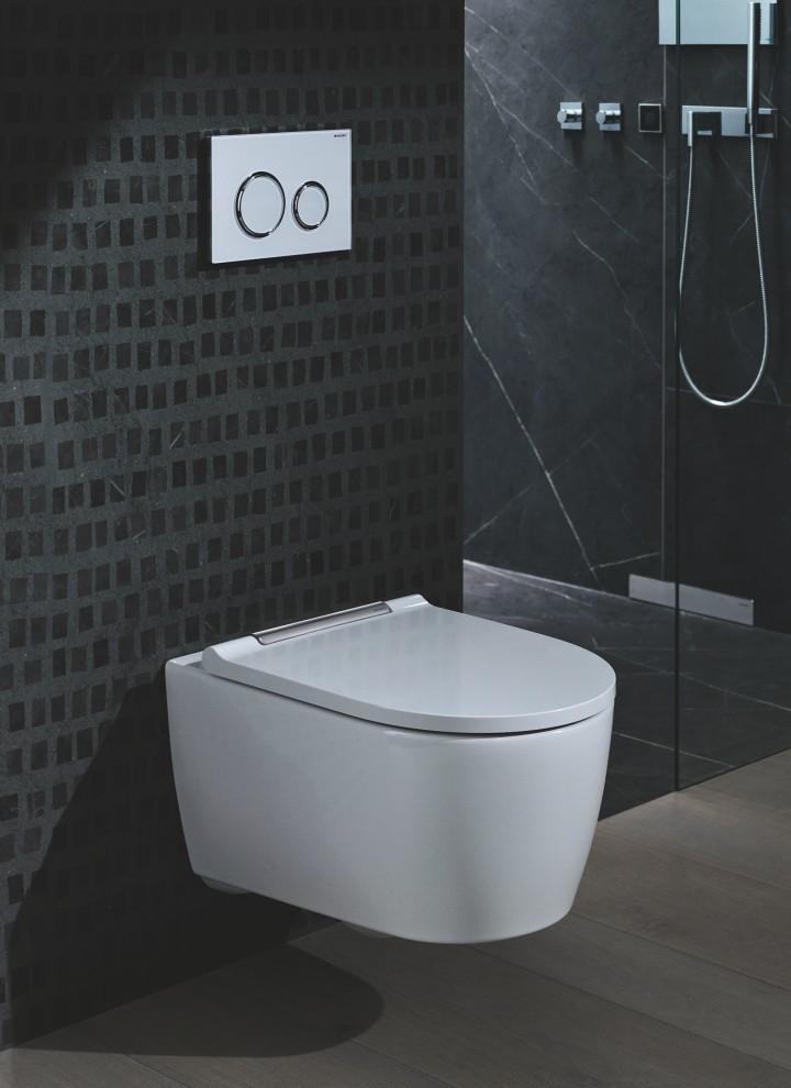 """Schön sind sie ja, die WCs mit geschlossener Keramik, aber wer will sie schon gerne montieren, wenn sie dann nicht ordentlich """"sitzen""""? Die neue EFF Befestigung von Geberit schafft hier Abhilfe."""