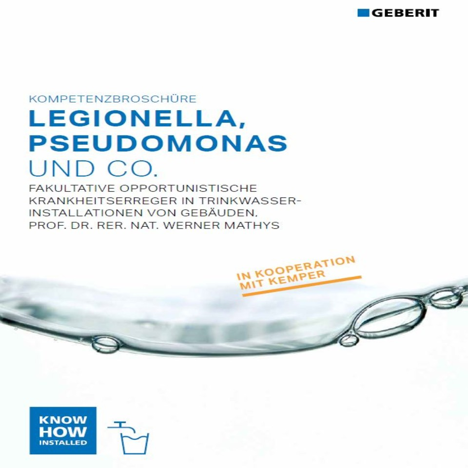 Legionella, Pseudomonas und Co. Kompetenzbroschüre