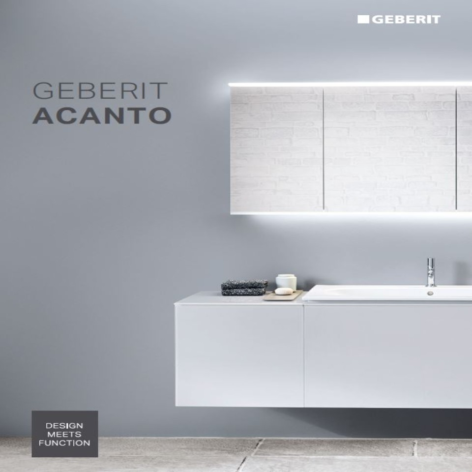 Geberit Badezimmerserie Acanto / Nr. 02002