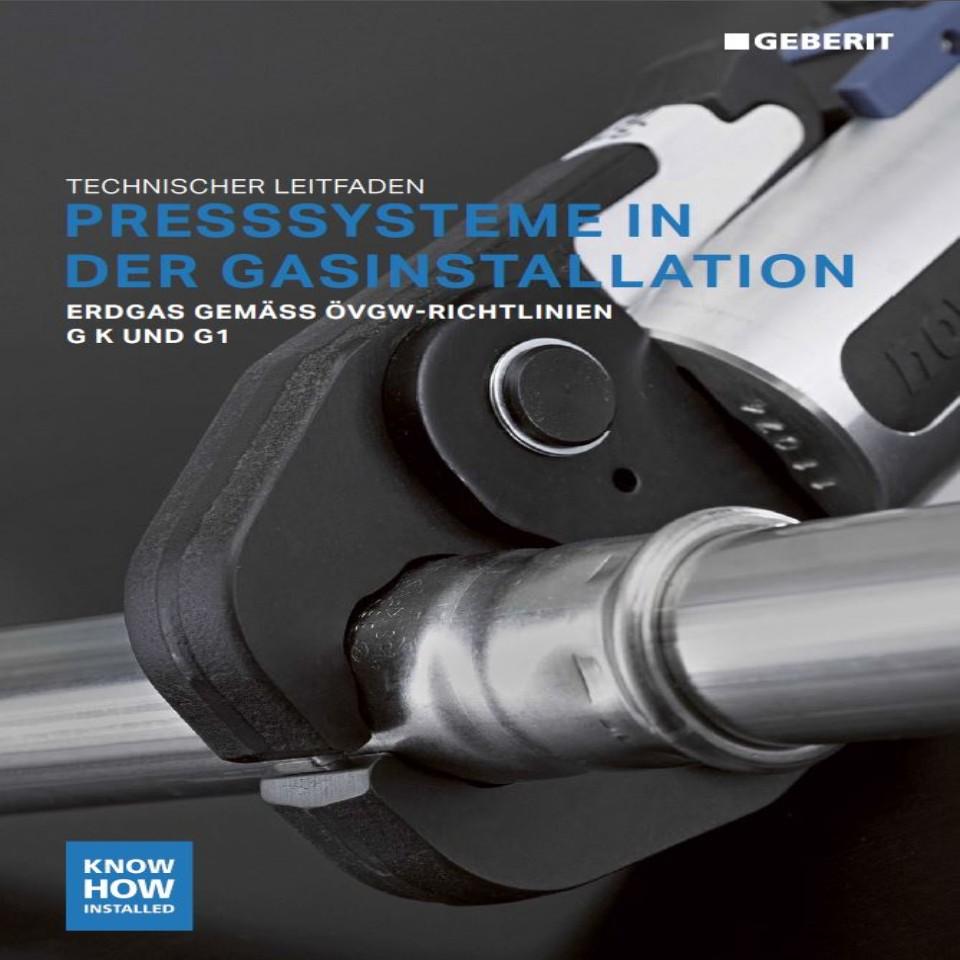 Geberit Leitfaden Presssysteme in der Gasinstallation / Nr. 10006